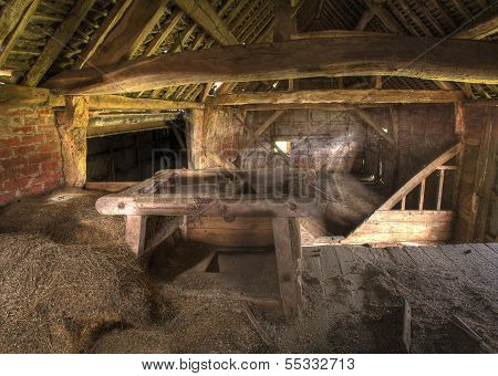English Hay Barn Interior