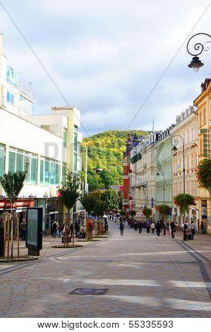 Masaryka street of Karlovy Vary