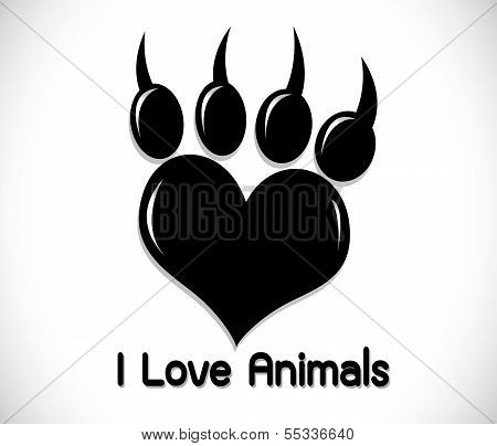 an images of   Animal Foot prints icon sign