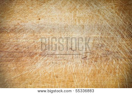 Old Grunge Wooden Cutting Kitchen Desk Board Background Texture