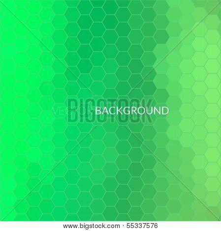 Digital hexagon pixel mosaic background