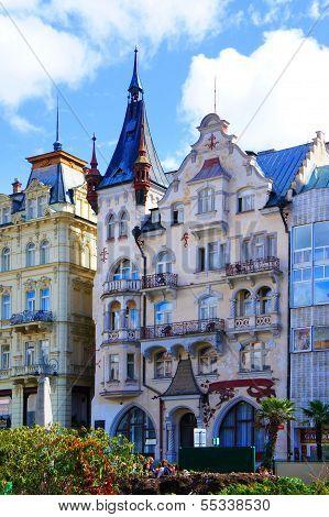 Divadelni street of Karlsbad (Karlovy Vary)