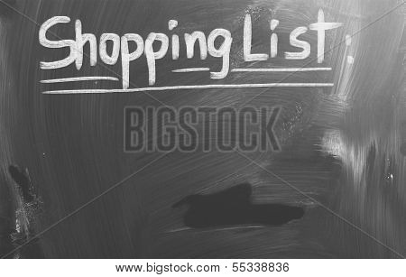 Shopping List Concept