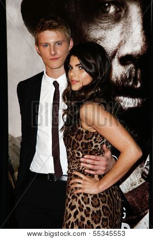 NEW YORK-DEC 3: Actor Timothy Ludwig and Nicole Pedra attend the premiere of