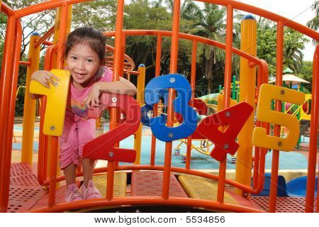 Child On A Playground
