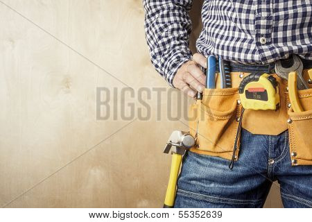 professional with tools,selective focus on nearest parts