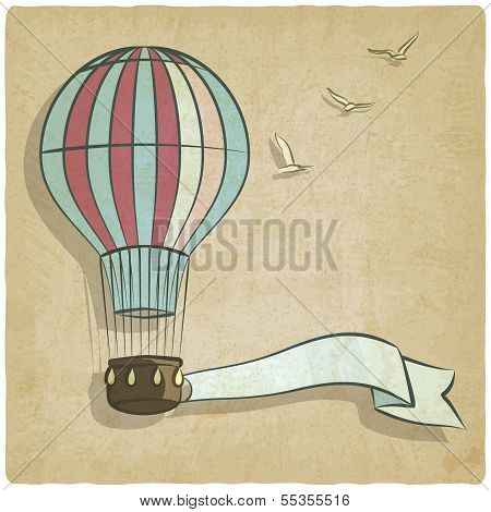 retro background with aerostat