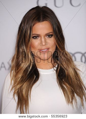 LOS ANGELES - DEC11:  Khloe Kardashian arrive to Women in Entertainment Breakfast 2013  on December 11, 2013 in Hollywood, CA