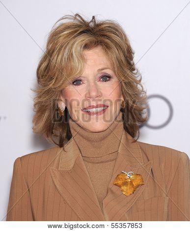 LOS ANGELES - DEC11:  Jane Fonda arrive to Women in Entertainment Breakfast 2013  on December 11, 2013 in Hollywood, CA