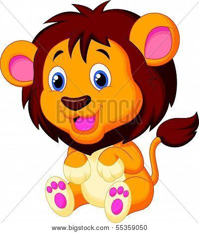 Cute young tiger cartoon