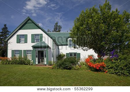 Green Gables House in Prince Edward Island National Park. Made famous in the book 'Anne of Green Gables' by L M Montgomery.