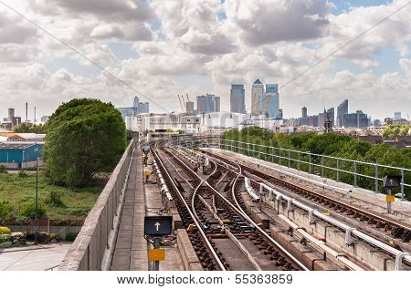 The Railway Tracks Of Docklands Light Railway