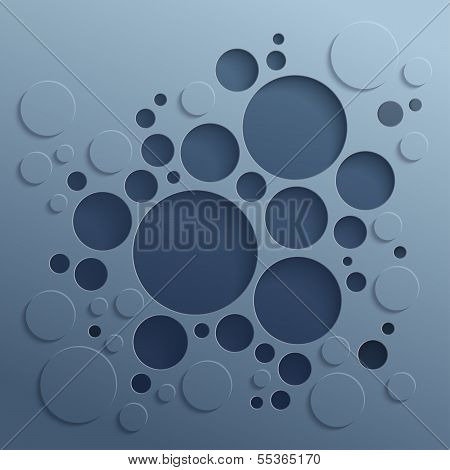 Abstract background with dark circles