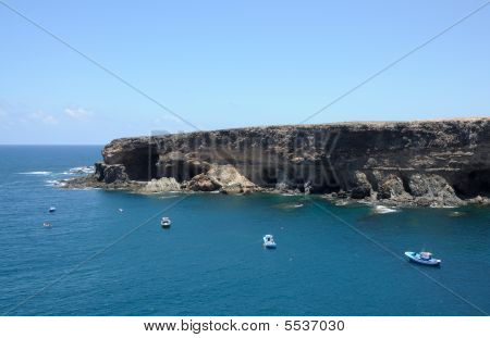 Coast On Canary Island Fuerteventura, Spain