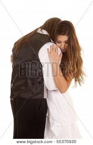 Couple Formal Her Eyes Closed His Face Hid