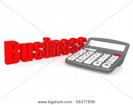Business with calculator