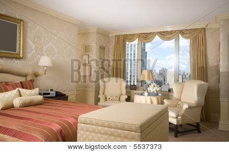 Master Bedroom With Sitting Area In Penthouse New York