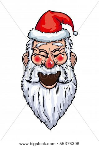 Santa Claus Laughing Head