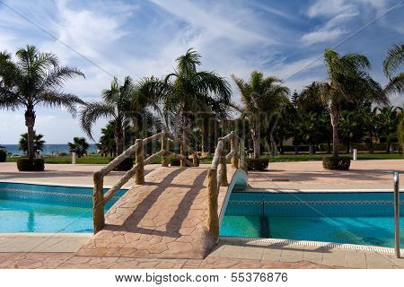 Palm Garden and Swimming Pool on the Beach