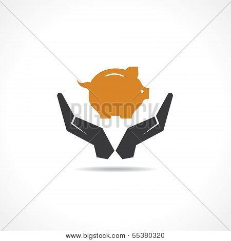 sparen Sie Geld-Konzept-Vektor