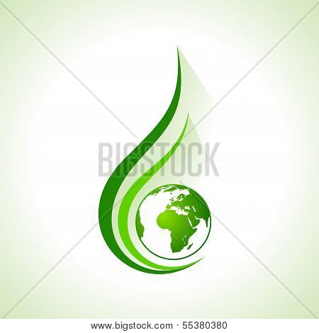 Ecology concept icon with earth stock vector