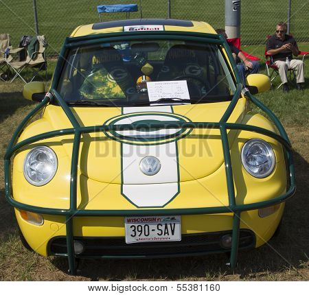 2002 Green Bay Packers Vw Beetle Front View