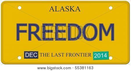 Freedom Alaska License Plate