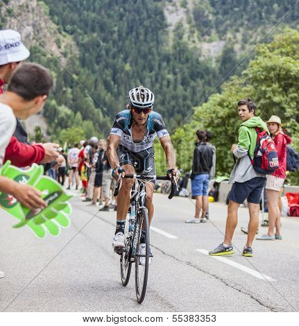 Peter Velits Climbing Alpe D'huez