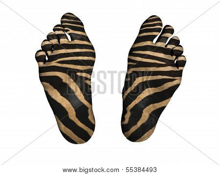 Human Feet With Print