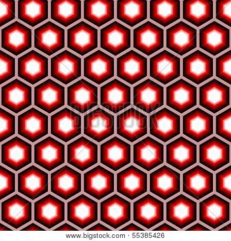 Design Seamless Hexagon Geometric Pattern. Colorful Trellis Background