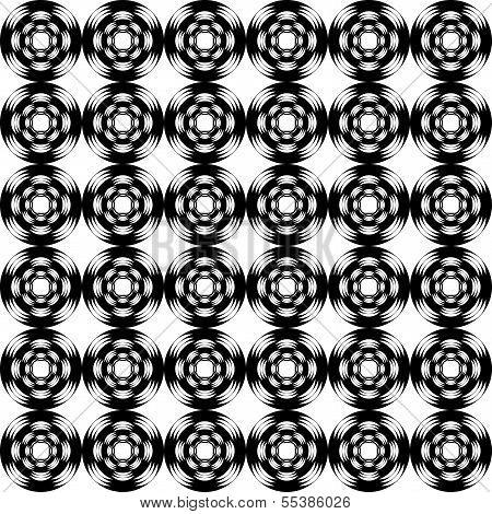 Design Seamless Geometric Pattern. Monochrome Trellis Background