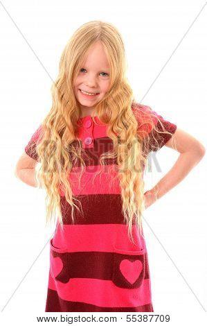 Little blond girl