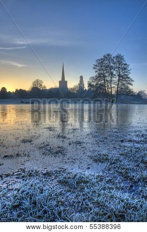 Frozen Floodplain, Worcestershire