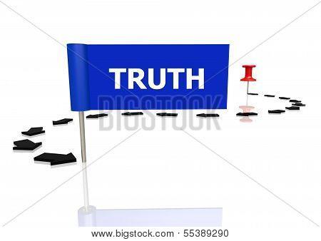 Push pin to truth