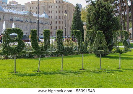 Topiary Word Bulvar In Park