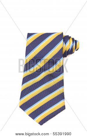 Tie a colorful striped.