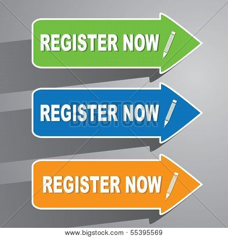Register Now Paper Labels