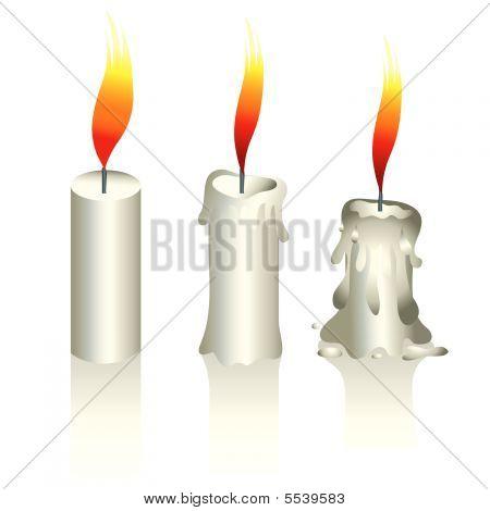 Illustration Of Three Candles