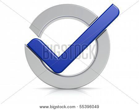 Blue check mark circle