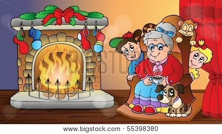 Christmas indoor theme 7 - eps10 vector illustration.