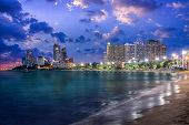 Pattaya City And Sea In Twilight, Thailand