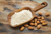 foto of carbohydrate  - almond flour high in protein - JPG
