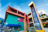 SIETTLE - DECEMBER 01: Colorful buildings of La Placita Village Shopping Center in downtown Tucson,