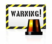 pic of flashers  - Vector warning background with flasher - JPG