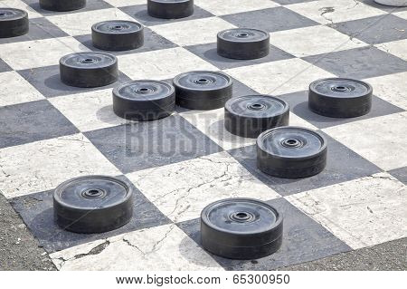 Checkers On The Pavement