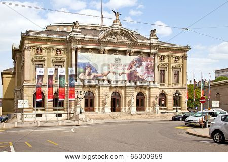 Geneva. Building Of Opera Theater On The New Square