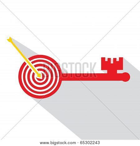 Archery board make key stock vector