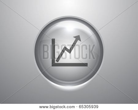 3d Vector illustration of graph icon