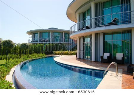 Modern Villas At Turkish Mediterranean Resort, Antalya, Turkey