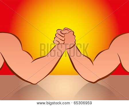 Arm Wrestling Red